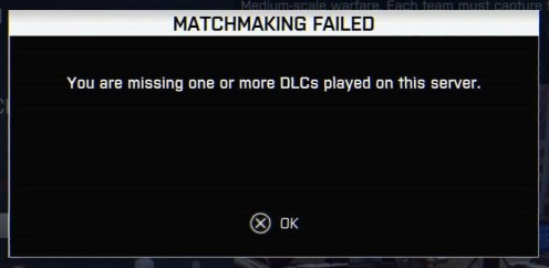 Battlefield 4 Error Message