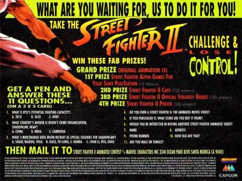 Street Fighter II Contest Ad