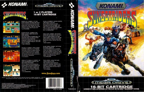 Sunset Riders Mega Drive Box